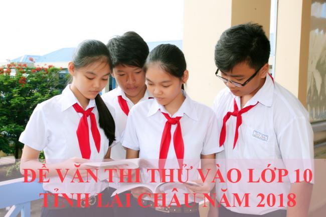 học sinh giải đề thi thử vào lớp 10 môn văn tỉnh Lai Châu