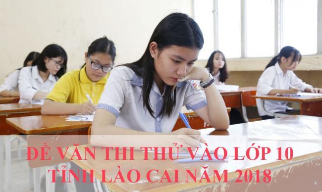 học sinh làm bài đề Văn thi thử vào lớp 10 tỉnh Lào Cai