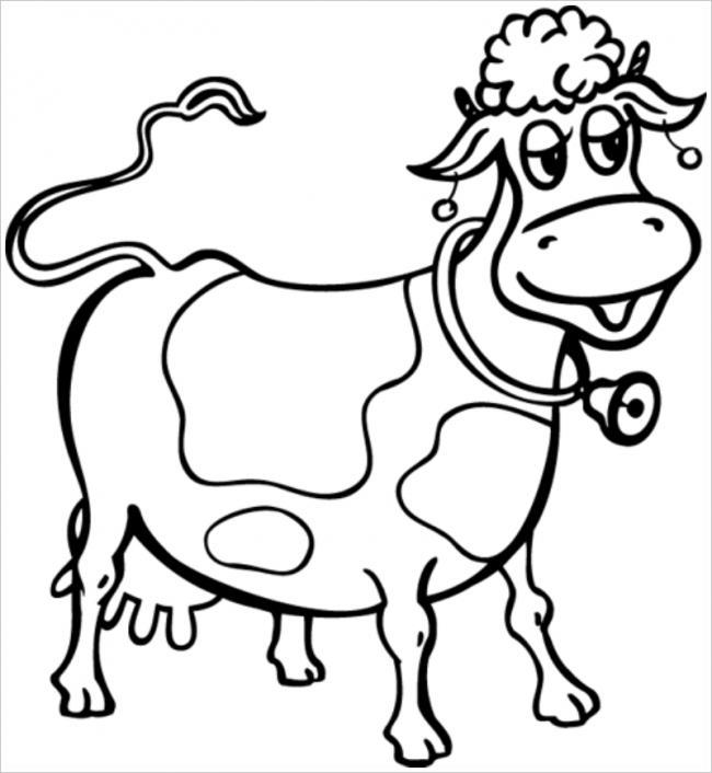 hình ảnh bò đeo lục lạc