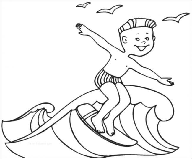 hình ảnh bé trai lướt sóng