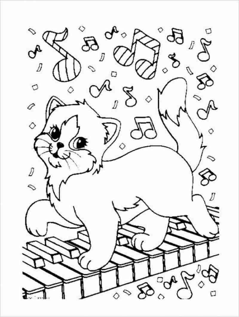 hình ảnh mèo con đánh đàn