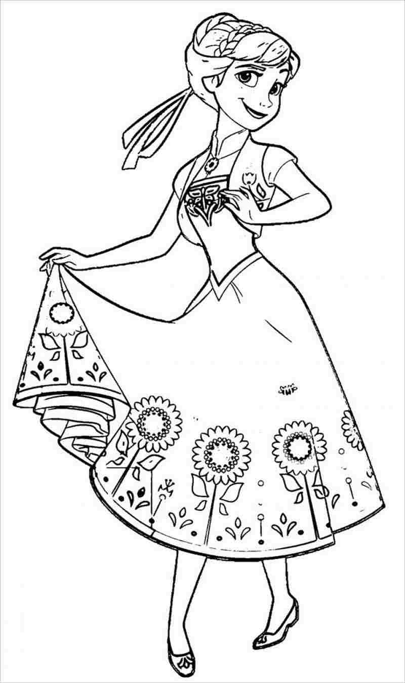 Anna mặc váy hoa