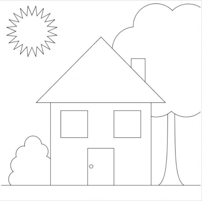 Hình ảnh ngôi nhà đơn giản