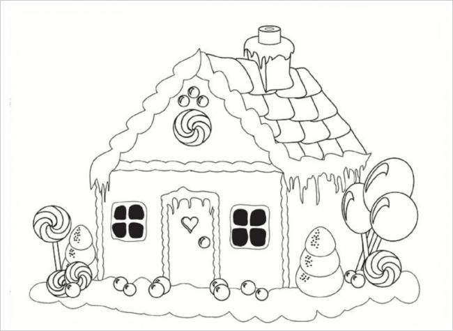 hình ảnh ngôi nhà kẹo ngọt ngào