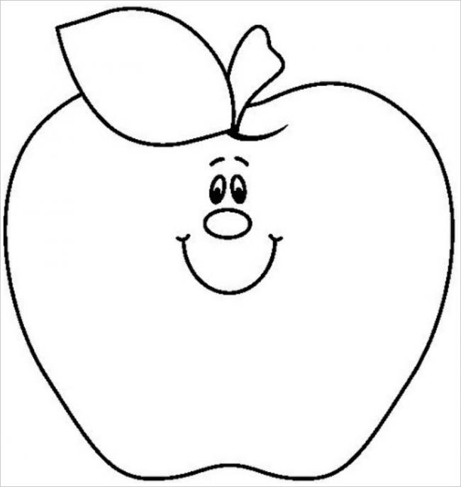 Hình tô màu trái táo