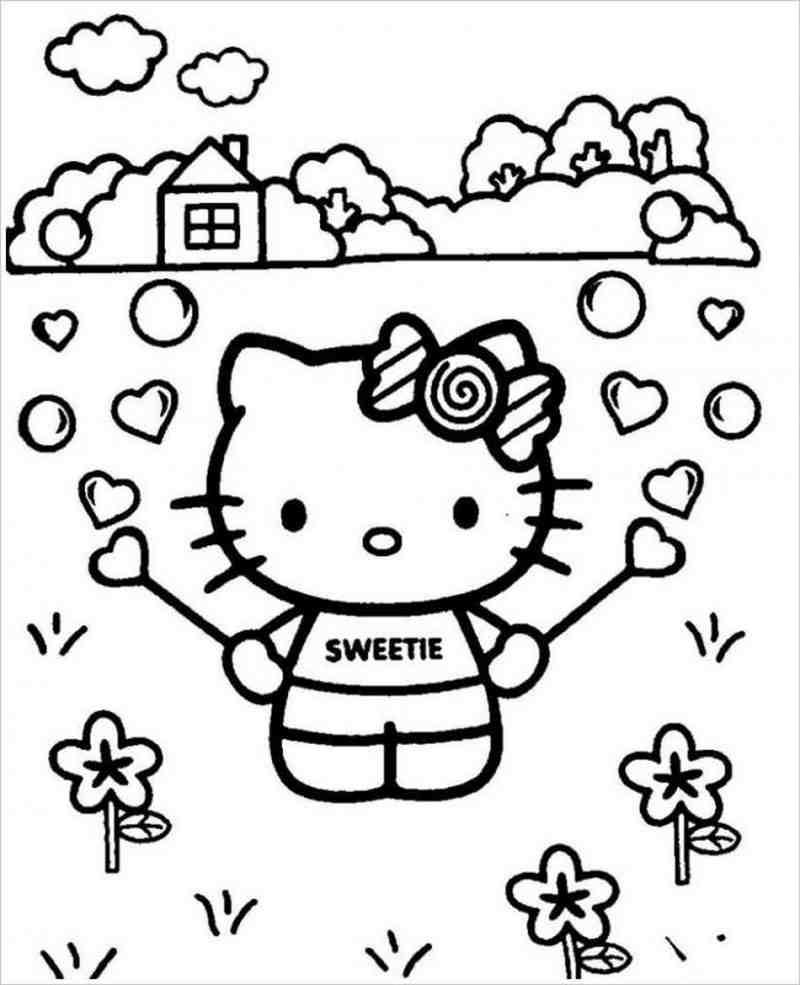 hình tô màu Hello Kitty
