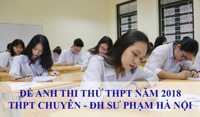 học sinh làm đề anh thi thử THPT chuyên ĐH sư phạm Hà Nội