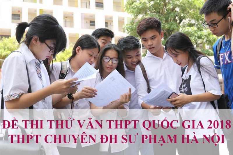 học sinh giải đề văn thi thử THPT quốc gia sư phạm Hà Nội