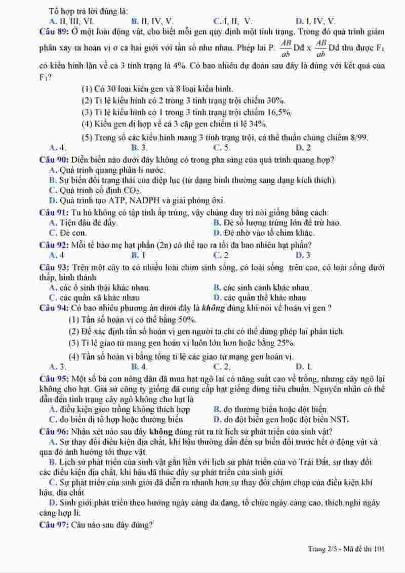 đề sinh thi thử THPT Nguyễn Viết Xuân 2018 (2)