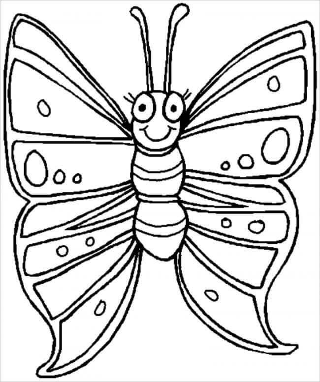 hình tô màu chú bướm
