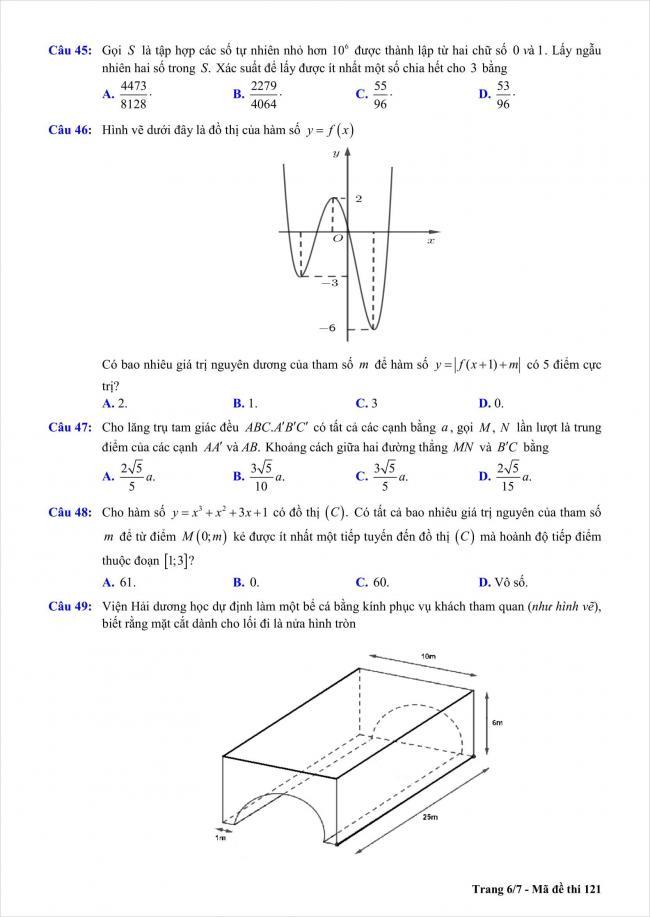 đề toán thi thử THPT Chu Văn An, Hà Nội năm 2018 (6)