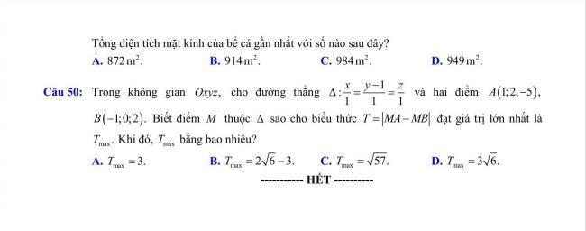 đề toán thi thử THPT Chu Văn An, Hà Nội năm 2018 (7)