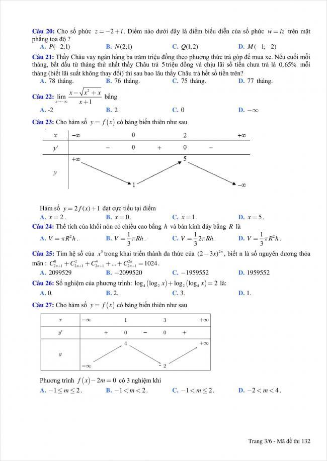 đề thi thử môn toán THPT Quỳnh Lưu 1, Nghệ An năm 2018 (3)