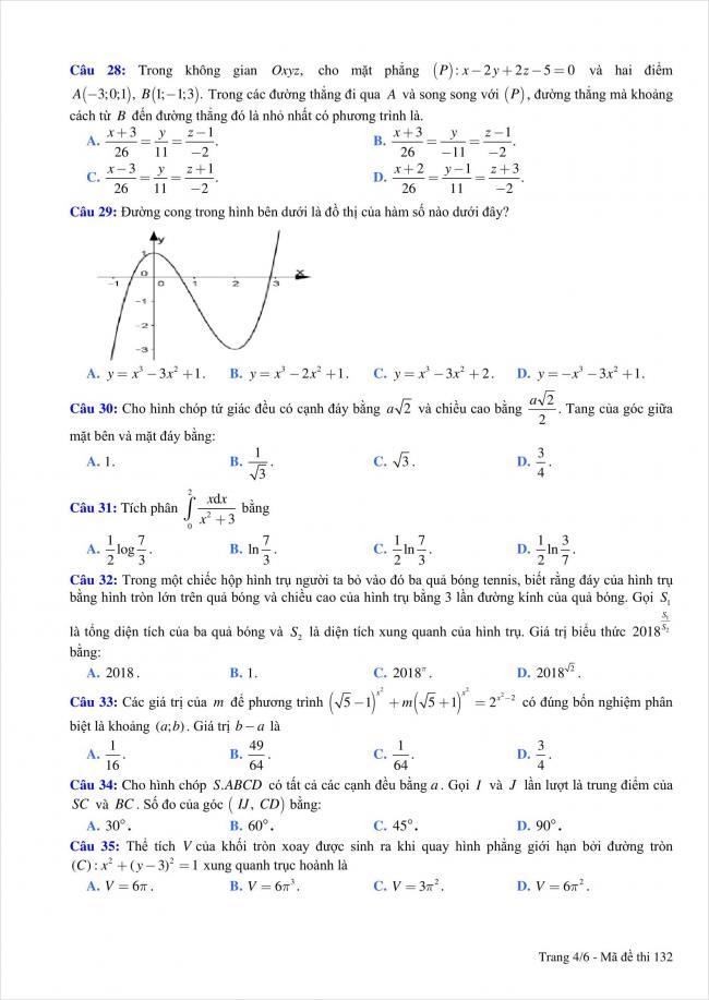 đề thi thử môn toán THPT Quỳnh Lưu 1, Nghệ An năm 2018 (4)