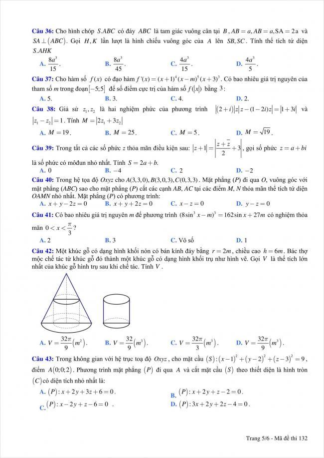 đề thi thử môn toán THPT Quỳnh Lưu 1, Nghệ An năm 2018 (5)