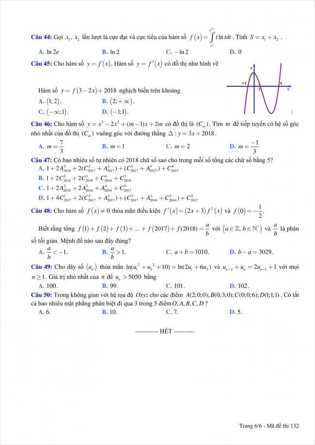 đề thi thử môn toán THPT Quỳnh Lưu 1, Nghệ An năm 2018 (6)