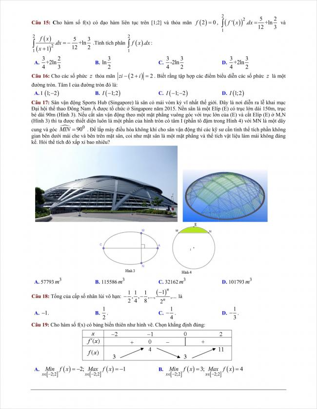 đề thi thử môn toán THPT Bình Giang năm 2018 (3)