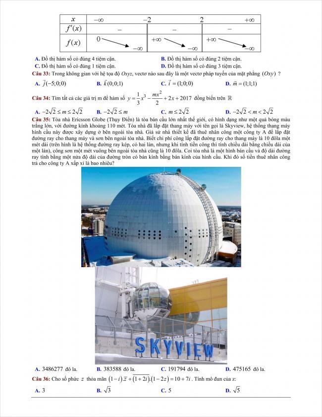 đề thi thử môn toán THPT Bình Giang năm 2018 (6)