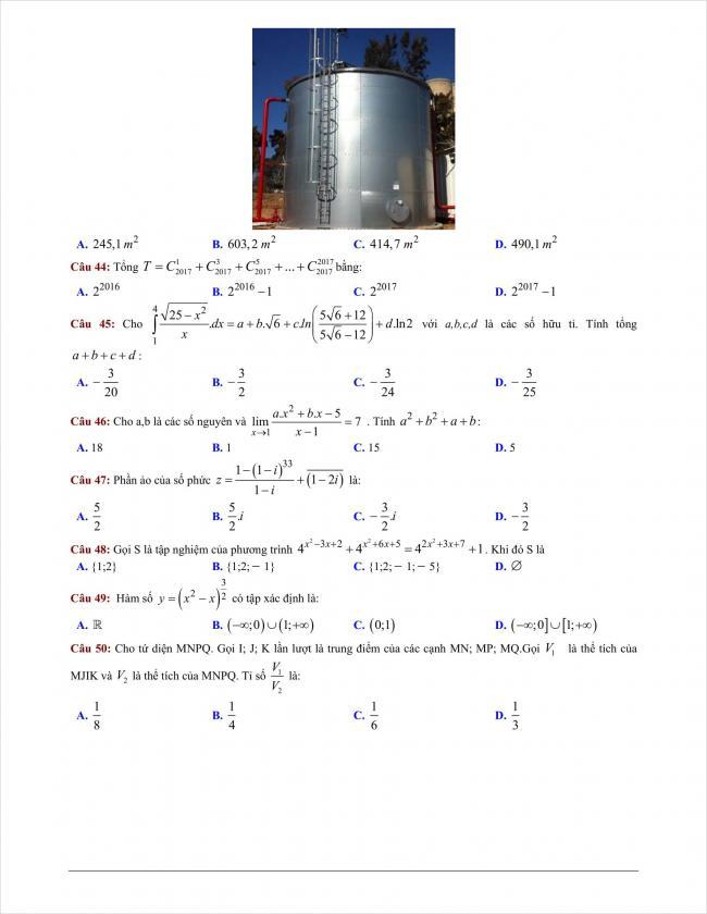 đề thi thử môn toán THPT Bình Giang năm 2018 (8)