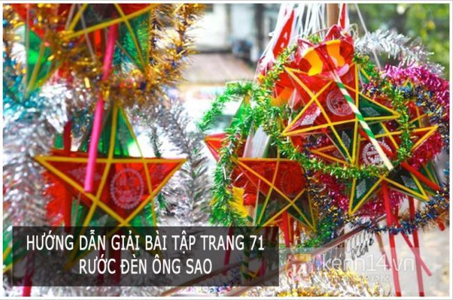 Hướng dẫn giải bài tập trang 71 Tiếng Việt 3 Rước đèn ông sao
