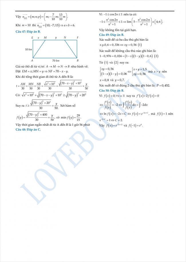 đáp án đề thi thử toán THPT tỉnh Yên Bái năm 2018 (5)