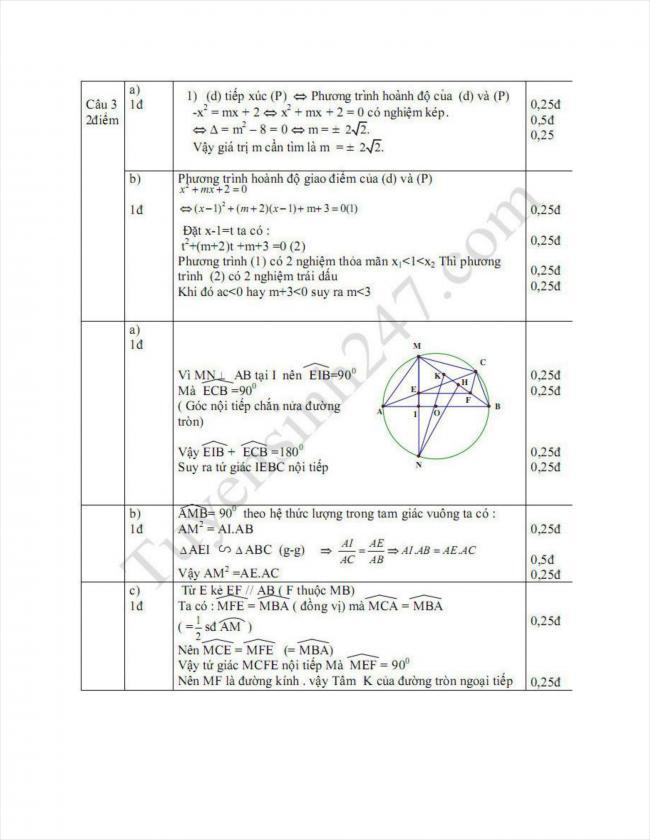 đáp án đề toán thi thử vào lớp 10 THPT Sầm Sơn 2018 (2)