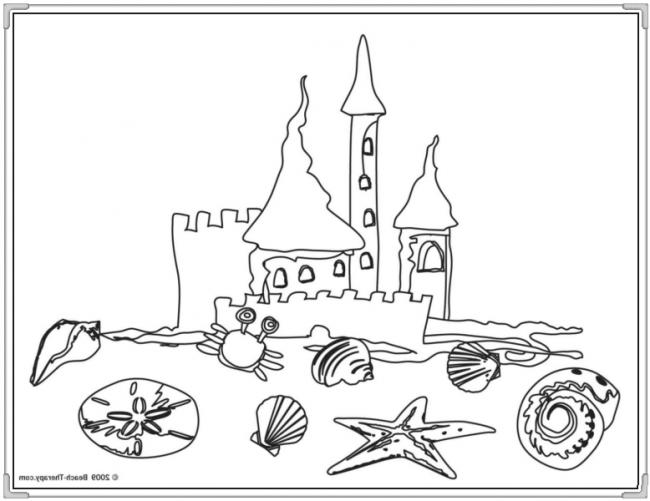 Tòa lâu đài cùng các động vật biển