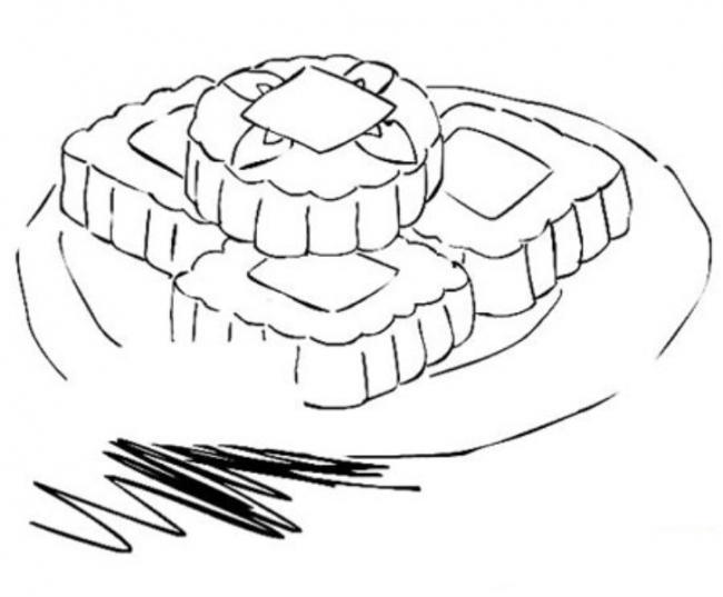 Tô màu hình bánh nướng