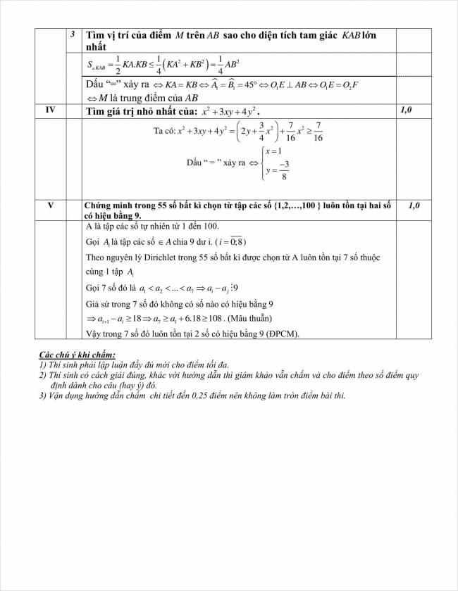 đáp án đề toán chuyên thi thử vào 10 THPT chuyên Nguyễn Huệ 2018 (3)