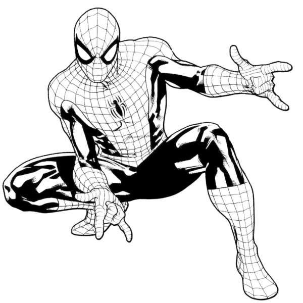 Tranh t m u ng i nh n spiderman th v in ra cho c c b for Spiderman da colorare on line