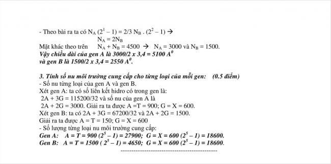 đáp án đề sinh thi thử vào lớp 10 THPT chuyên Nguyễn Huệ (5)