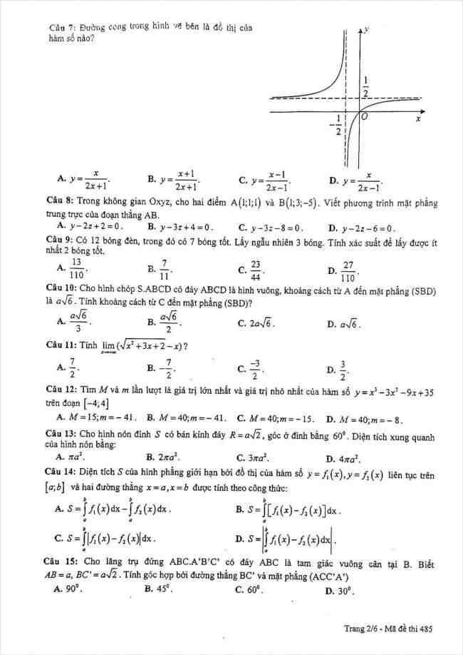 đề toán thi thử THPT Lê Quý Đôn Hà Nội năm 2018 (2)