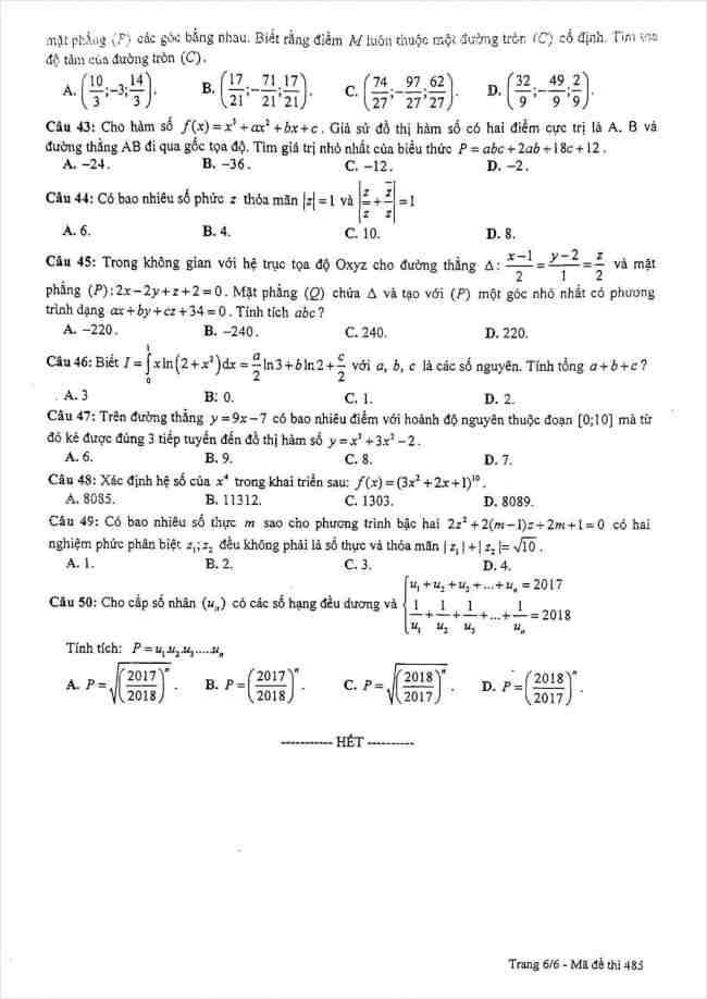 đề toán thi thử THPT Lê Quý Đôn Hà Nội năm 2018 (6)