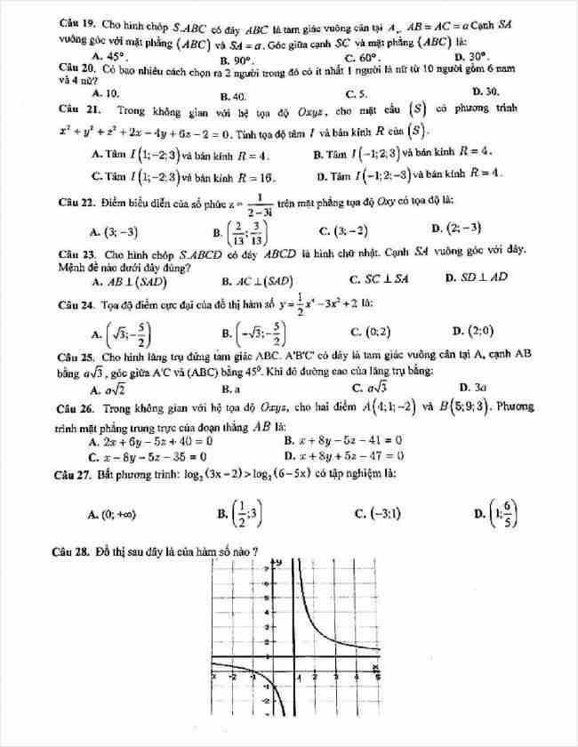 đề toán thi thử THPT tỉnh Cao Bằng năm 2018 (3)