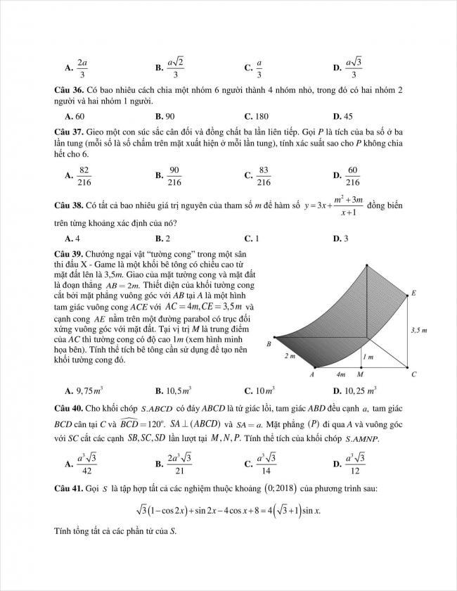 đề toán thi thử THPT chuyên Quốc học Huế năm 2018 (6)