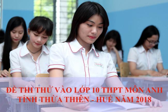 học sinh làm bài thi thử môn anh vào lớp 10 năm 2018