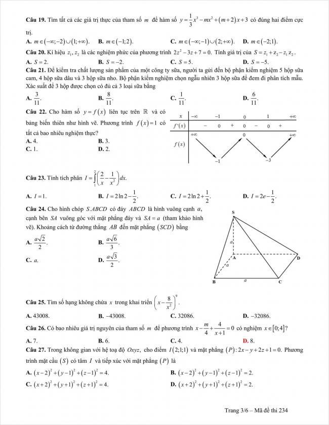 đề thi thử môn toán THPT thị xã Quảng Trị năm 2018 (3)