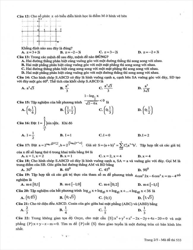 đề thi thử môn toán lần 3 năm 2018 THPT chuyên sư phạm Hà Nội (2)