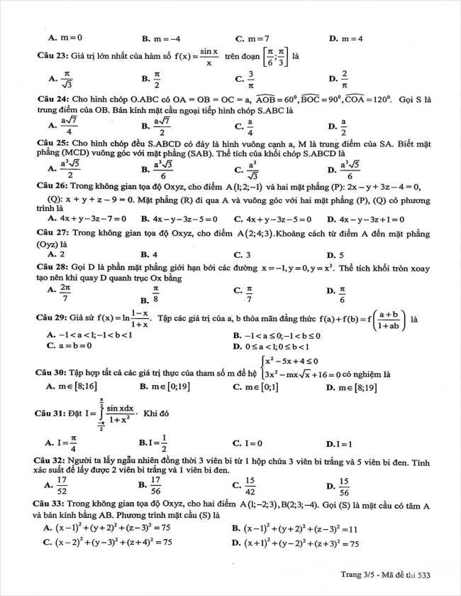 đề thi thử môn toán lần 3 năm 2018 THPT chuyên sư phạm Hà Nội (3)