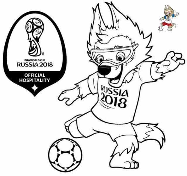 Tô màu linh vật World Cup 2018 tổ chức ở Nga
