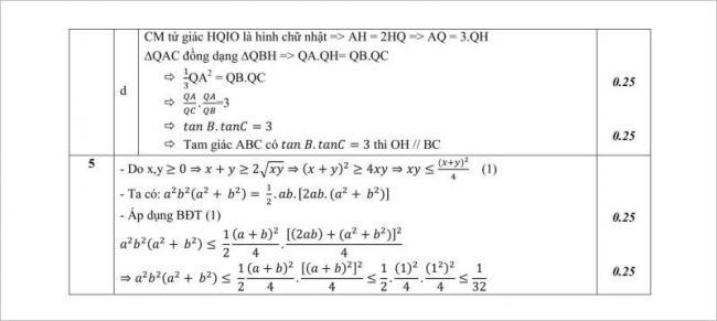 lời giải bài 5 đề toán lớp 10 thpt nguyễn công trứ