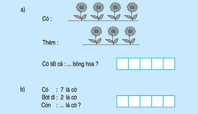 bài 3 trang 90 SGK toán lớp 1