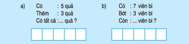 Bài 5 trang 89 SGK toán lớp 1