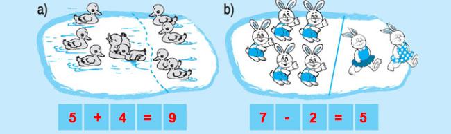 Đáp án bài 3 trang 91 SGK toán lớp 1