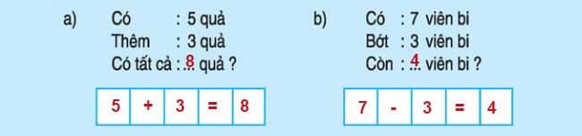 Đáp án bài 5 trang 89 SGK toán lớp 1