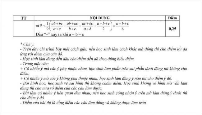 giải đề câu 5 đề toán thi vào lớp 10 vĩnh bảo, hải phòng