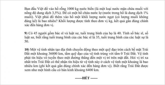 trang 2 câu 9 đến 10 đề toán lớp 10 tphcm