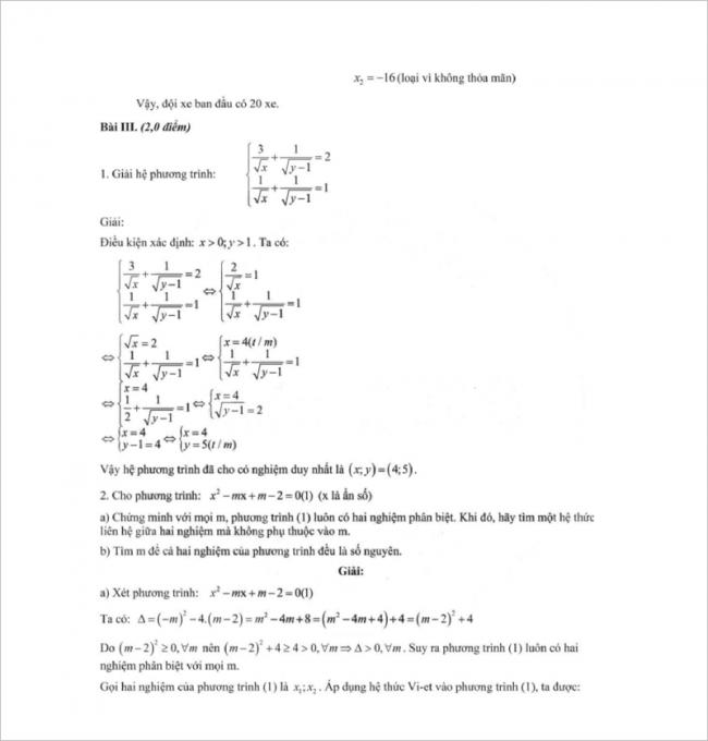 đáp án bài 3 đề toán thi thử vào lớp 10 thcs mạc đĩnh chi