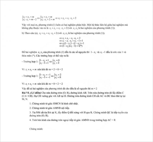 đáp án bài 4 đề toán thcs mạc đĩnh chi, hn