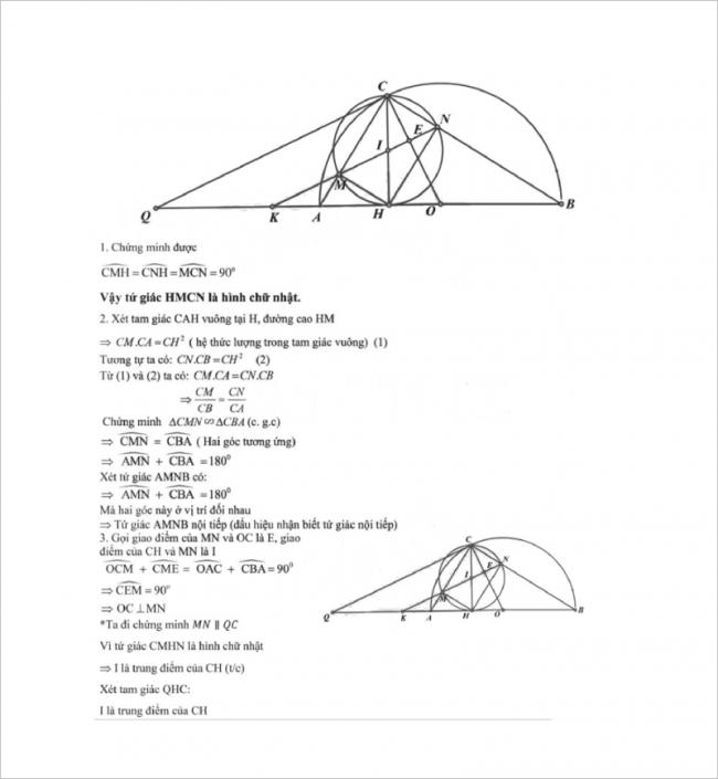 diễn đạt lời giải ý 1,2,3 bài 4 đề toán thcs mạc đĩnh chi, hn